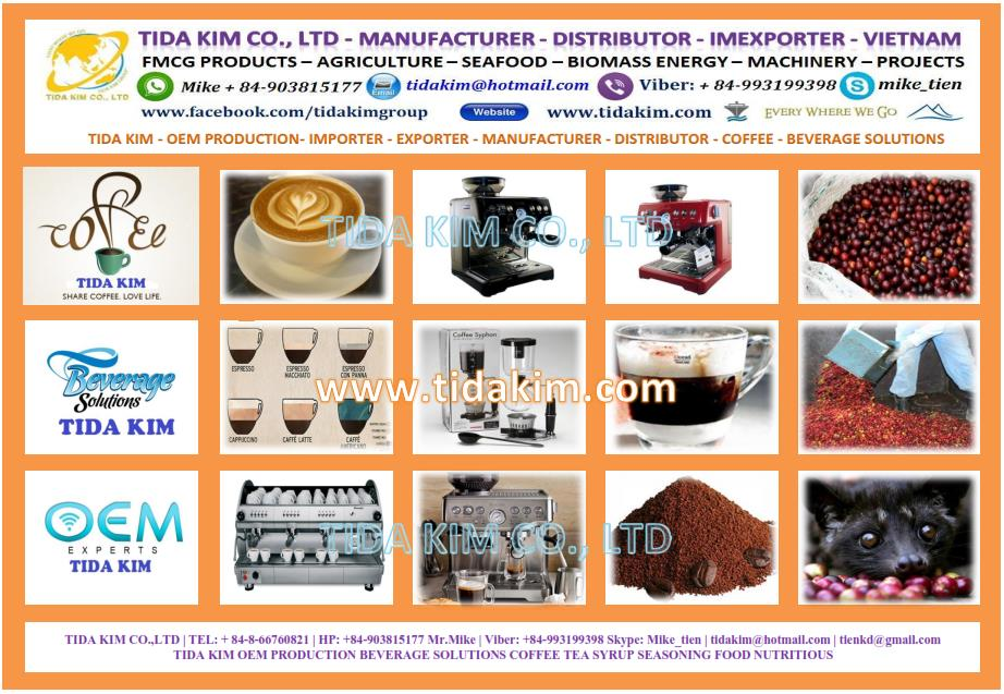 COFFEE TIDA KIM OEM PRODUCTION BEVERAGE SOLUTIONS COFFEE TEA SYRUP SEASONING FOOD NUTRITIOUS 2